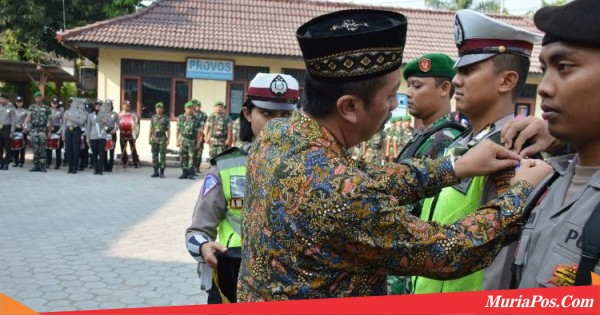 Bupati Rembang Pimpin Apel Gelar Pasukan, Operasi Ketupat Candi 2018